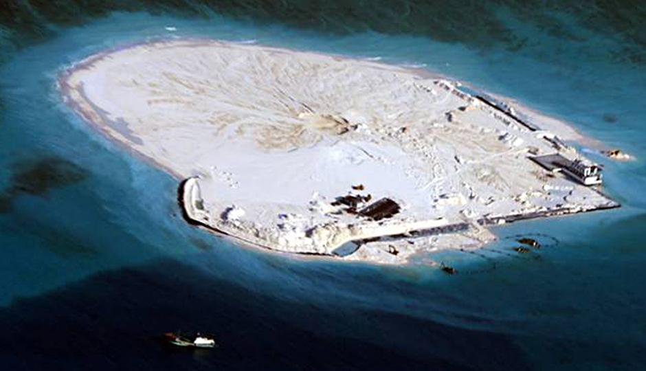 La Cina costruisce isole in acque internazionali