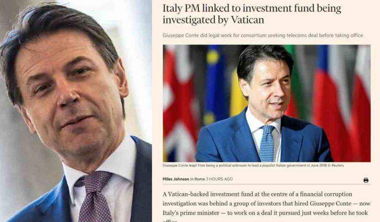"""Giuseppe Conte, nel mirino del Financial Times: """"Consulente per fondo del Vaticano, sotto inchiesta"""""""